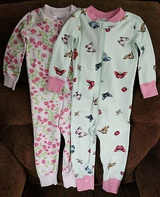 Lot of Two One-Piece Hanna Andersson Girls Pajamas - Size 80