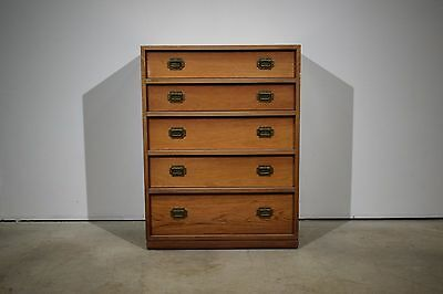 A rosewood chest of drawers with brass handles, Henning Korch, Silkeborg