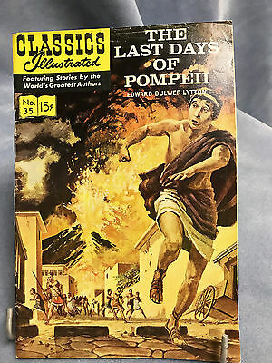 "Classics Illustrated Comic Book ""the Last Days Of Pompeii"" By Bulwer-Lytton"