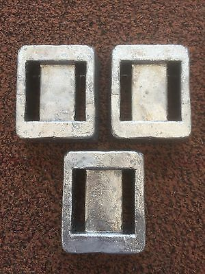 3 x 1.8kg Solid Lead Scuba Diving Weights = 5.4kg Total (Free Postage)