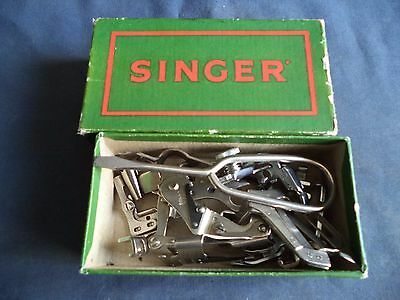 Vintage Singer Sewing Machine-Singer Box Of Accessories 221/201/99/28 Etc
