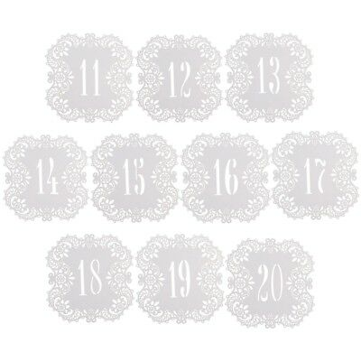 Laser Cut Table Number Card 1-20 Wedding Name Place Cards Centerpieces Decor