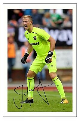 Joe Hart West Ham Soccer Signed Autograph Photo Print