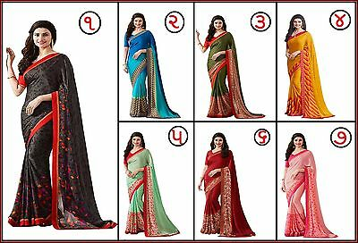 Indian Women Ethnic Wedding Designer Saree Traditional Party Wear Bollywood Sari