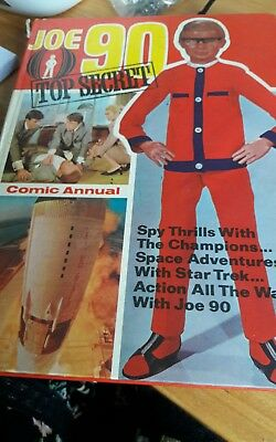 Joe 90 annuals from 1969. Rips on cover spine. Have price inside cover