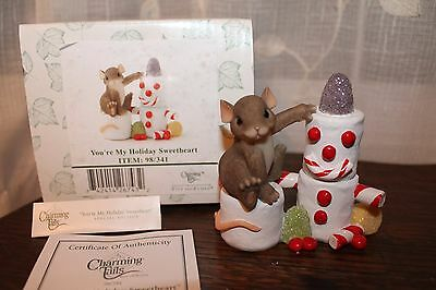 Charming Tails You're My Holiday Sweetheart Snowman Figurine 98/341