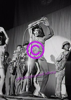 Tina Turner, risque concert 8x10 inch photograph, 1971
