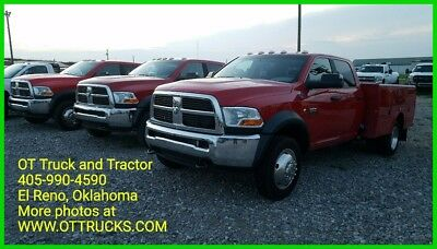 """2011 Dodge Ram 5500 ST 2011 Dodge Ram 5500 HD Crew Cab 9ft Utility Bed 2wd 6.7L Diesel 60"""" Cab to Axle"""