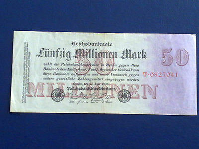 Germany - 50 Million Mark  Banknote 1923-Inflation - Very Fine
