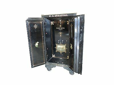 Antique HALL CO Double Door Safe  Great Condition WS Stratton Original L@@K