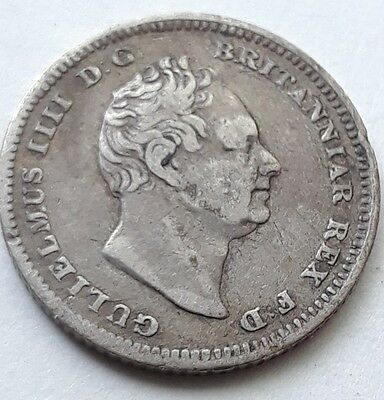 1837 4 Pence (Groat) King William Iv British Silver Coin