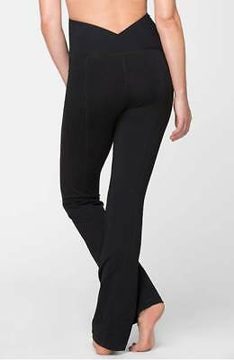 $88 Ingrid & Isabel Active Maternity Pants with Crossover Panel in Black ~Size S