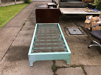old metal single bed