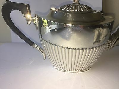 Solid Silver Teapot 1901 Edwardian Large