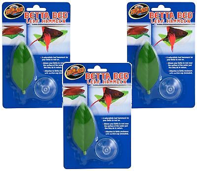 Betta Bed Leaf Hammock w/ suction cup 3Pack Fish Aquariam Decoration by Zoo MED