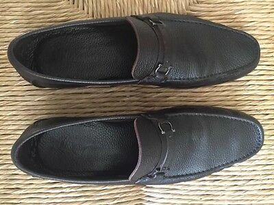 Mens Salvatore Ferragamo Leather Slip on Driving Moccasins Loafers Shoes Size 12