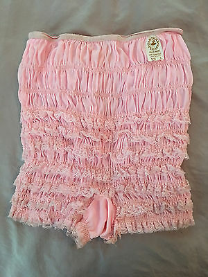 PINK Square Dance Malco Modes Ruffled Lace Pettipants Size S N-20 Square Dance