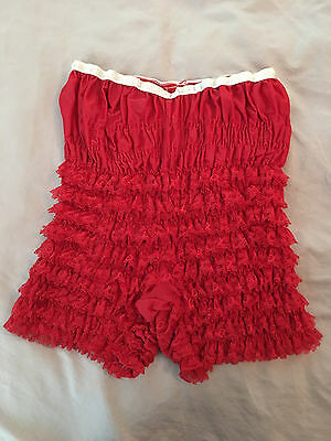 RED Square Dance SAM's 502 Ruffled Lace Pettipants Size Medium Square Dance