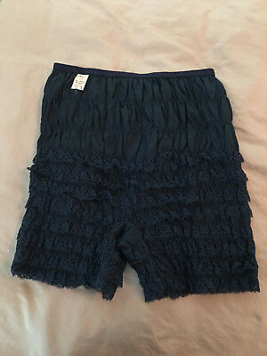 NAVY Square Dance Malco Modes Ruffled Lace Pettipants Size M, N-24, Square Dance