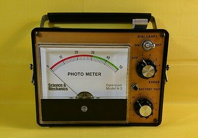 Excellent - Science & Mechanics A-3 Darkroom Photo Meter - Tested~~~~