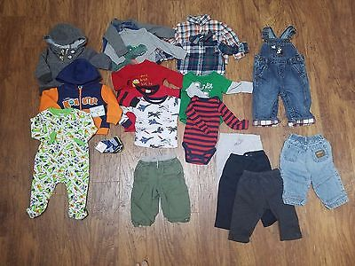Used Baby Boy 6/9 6/12 Months Fall Winter Outfits Clothes Lot *free Shipping