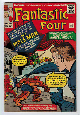 Fantastic Four #22 4.0 Kirby Art Sue Gains More Powers 1964 Off-White Pages