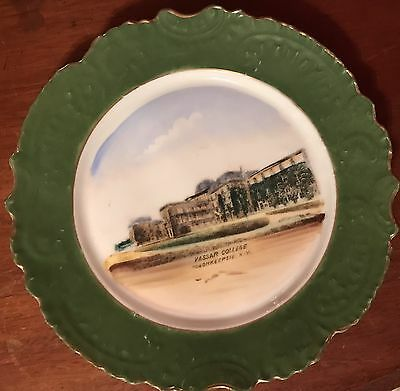 Antique VASSAR COLLEGE Poughkeepsie NY Hand painted Cabinet Plate