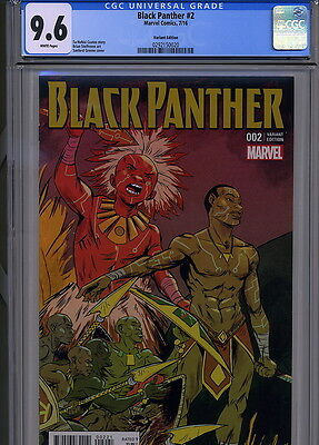 Black Panther No. 2 Cgc 9.6 Variant Cover Marvel Comics July 2016