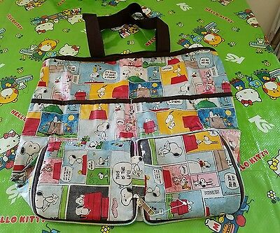 Snoopy Shopping Nylon Bag Reusable Grocery Recycle Tote Bag
