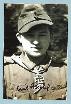 Infanrty Knights Cross Signed Photo - Bischof
