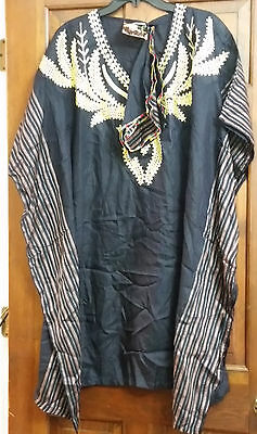 African Women Clothing African Dress Black Size: One Size