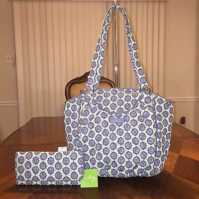 NWT Vera Bradley 2pcs Lot Glenna Shoulder Bag & Trifold Wallet Normadic Blossoms