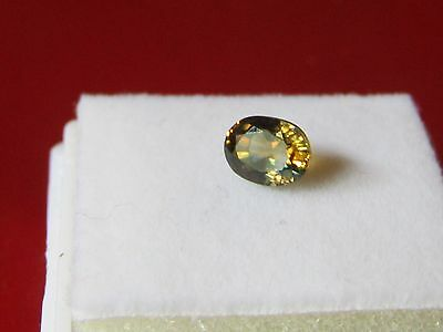 Certified 1.17ct Oval Cut Eye Clean Green- Yellow Natural Sapphire.