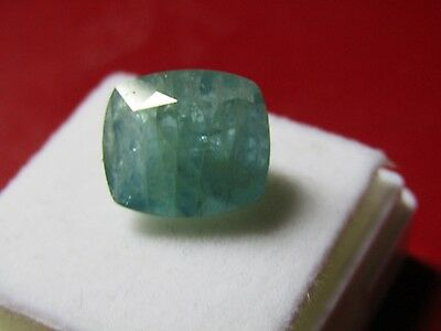 Certified Good 6.97 Carat Cushion Cut Grandidierite.