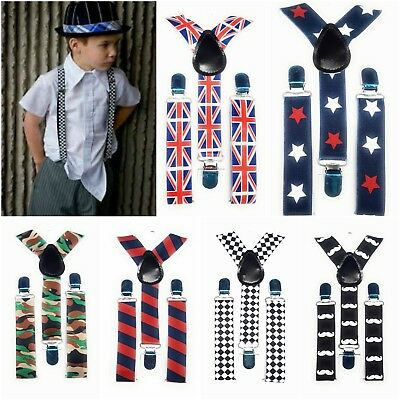 SPIRIUS Kids Braces Trousers Suspenders Children Boys Girls Wedding Party funky