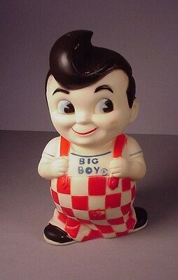 Vintage Big Boy figure vinyl  bank original restaurant advertising toy