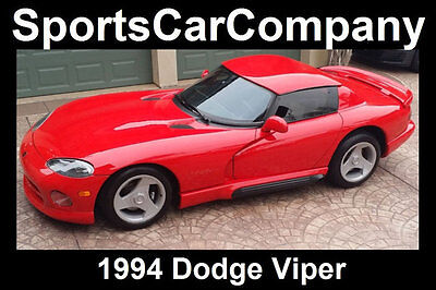 1994 Dodge Viper 2dr Open Sports Car 1994 DODGE VIPER RED HOT FANTASTIC CONDITION INSIDE & OUT CALL TODAY