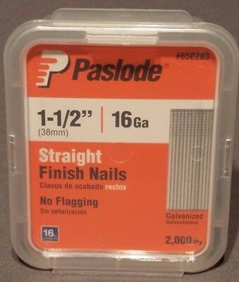 """Paslode 1-1/2"""" Inch Straight Finish Nails 16 Gauge Galvanized Qty 2000 Per Box"""