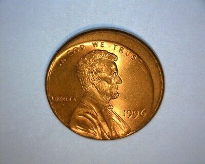 1996 Lincoln Cent, Off Center, Higher Grade  Us Mint Error Coin*