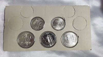 1980 Soviet Union Olympics 90% Silver Coins Set of 5