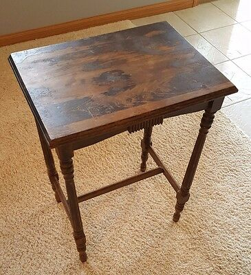 Vintage Antique Hall Table / Plant Stand