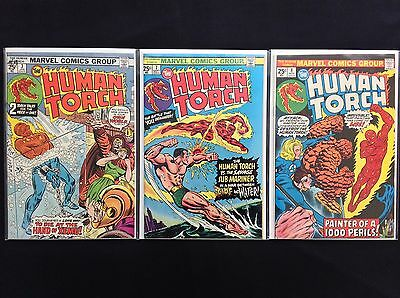HUMAN TORCH Lot of 3 Marvel Comic Books - #3 7 8 - High Grade!