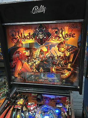Black Rose Pinball Machine By Bally With LED's