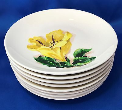 Santa Anita Ware Flowers of Hawaii - Cup of Gold Bread & Butter Plate Set of 10
