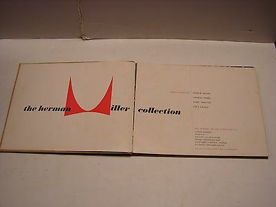 Vintage 1948 Herman Miller Furniture Co Book Illustrated Record Of Collection