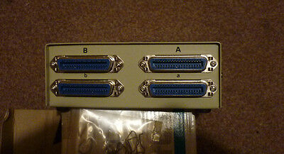 Centronics LPT Parallel Port Crossover Switch Box Mach3 CNC. New in box.