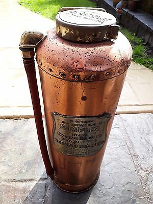Antique Simples Fire Extinguisher, Wormald Brothers, copper, brass