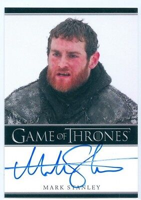 "Mark Stanley ""grenn Autograph Card"" Game Of Thrones Season 3"