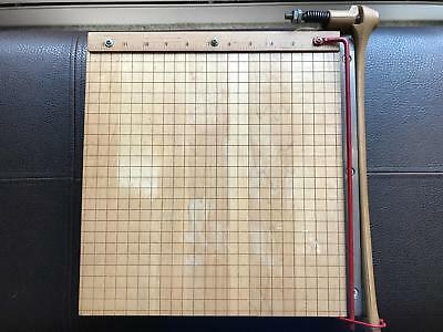 "Vintage Ingento Model 1132 12"" Paper Cutter in Very Good Condition"
