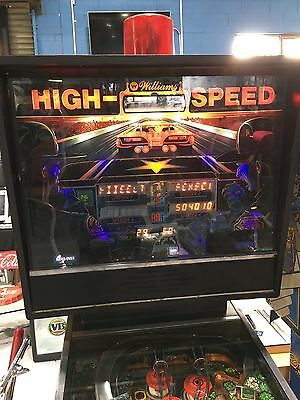 High Speed Pinball Machine By Williams With LED's